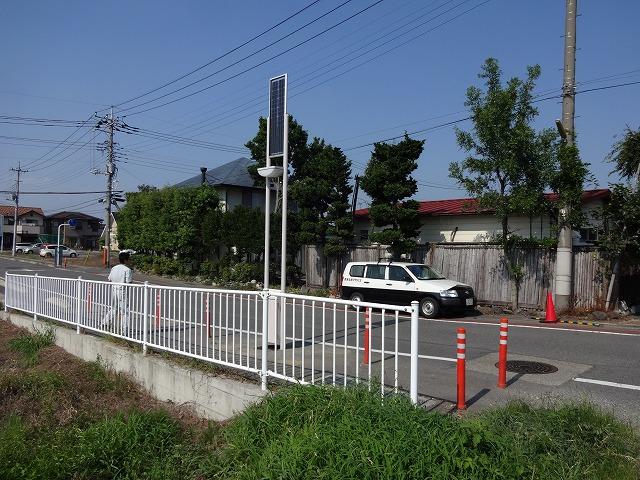 ソーラーLED街路灯 エコアヴェニューこみち (群馬県・玉村町)