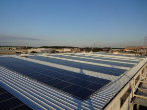 工場屋根太陽光発電設備 (千葉・白井市)